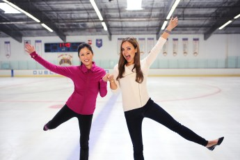"With Kristi Yamaguchi for my AOL series, ""I'll Never Forget My First"""