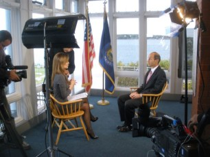Interviewing the Governor of Maine for CNBC