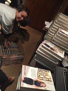 Signing stock all over Manhattan...it takes a village.