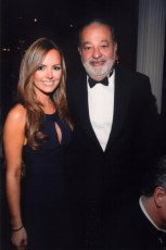 With Carlos Slim at the Happy Hearts Fund Gala in NYC