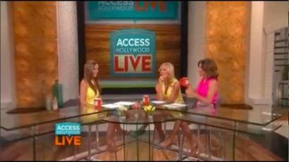 "Joining my friends at ""Access Hollywood Live"""