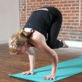 Nicole in crow pose, September 2013.