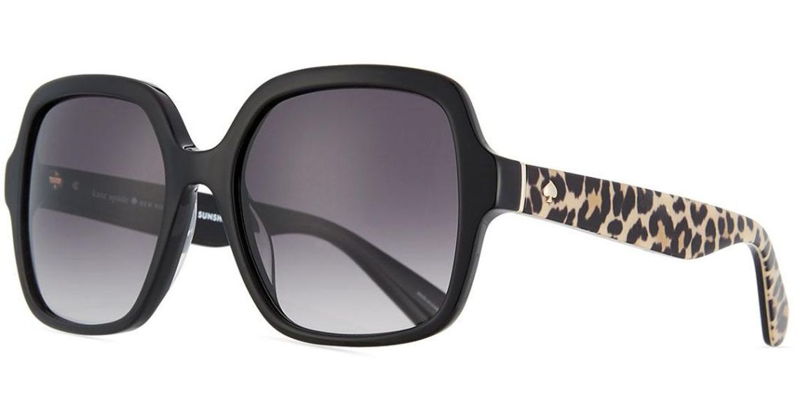 kate-spade-BLACK-Katelee-Square-Leopard-arms-Sunglasses