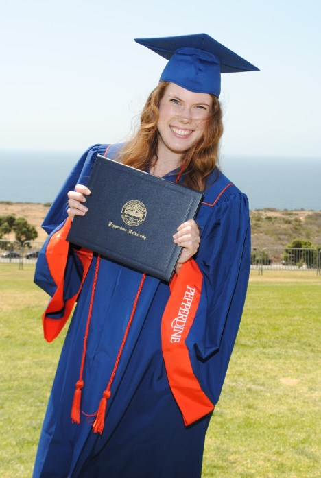 Goal achieved: I graduated with honors from Pepperdine!