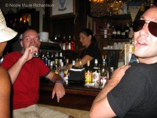 Max and Silvio drinking