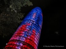 Torre Agbar, work of the French architect Jean Nouvel, near our hotel