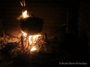 Making dinner in the dark