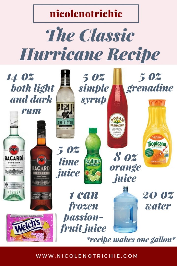classic new orleans hurricane recipe cocktail rum mardi gras nola pitcher-2