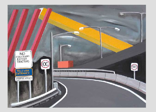 Citylink, Melbourne, acrylic on canvas