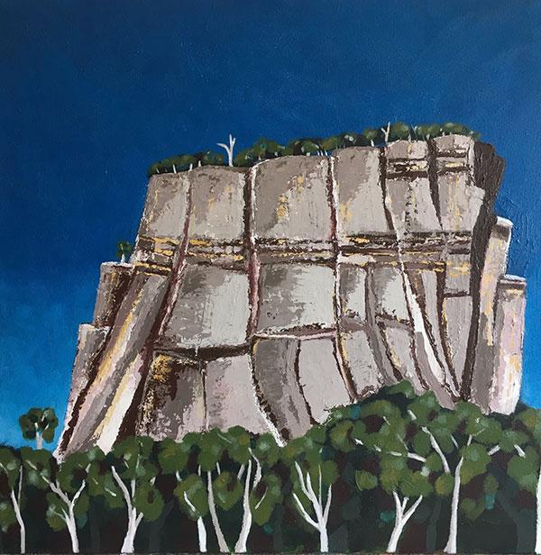 Carnarvon Gorge QLD cliffs against a blue sky