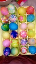 colorful easter eggs picture
