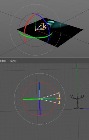 Spotlight narrow drag using handles to enlarge.