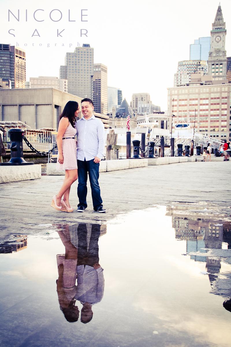 Boston Harbor Engagement Session Boston Wedding Event Photography By Nicole Sakr Photography