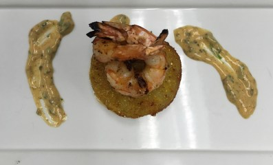Fried Green Tomatoes with a Shrimp Remoulade