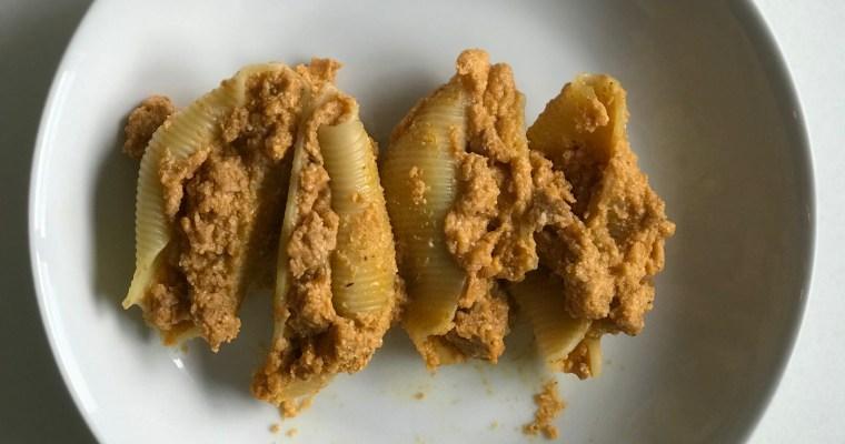 Pumpkin (and chorizo) Stuffed Shells