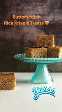 Butterscotch Rice Cereal Treats