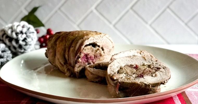 Cranberry Stuffed Pork Tenderloin