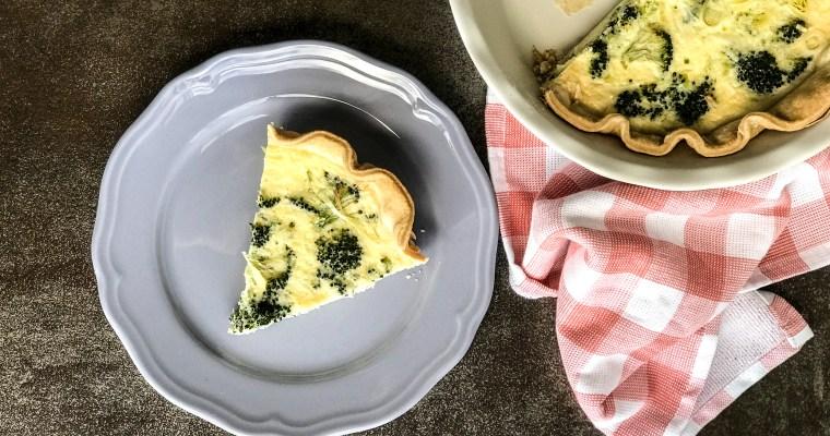 Broccoli and Leek Quiche