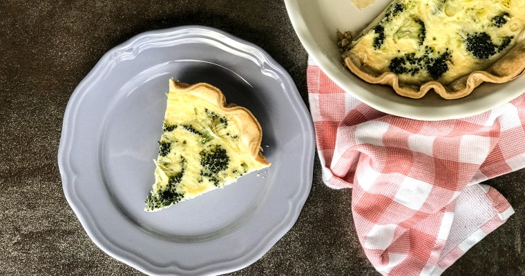 Broccoli and Leek Quiche