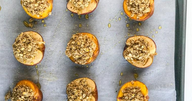 Baked Oatmeal Fruit Boats