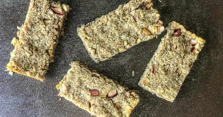 Baked Apple Oat-Granola Bars