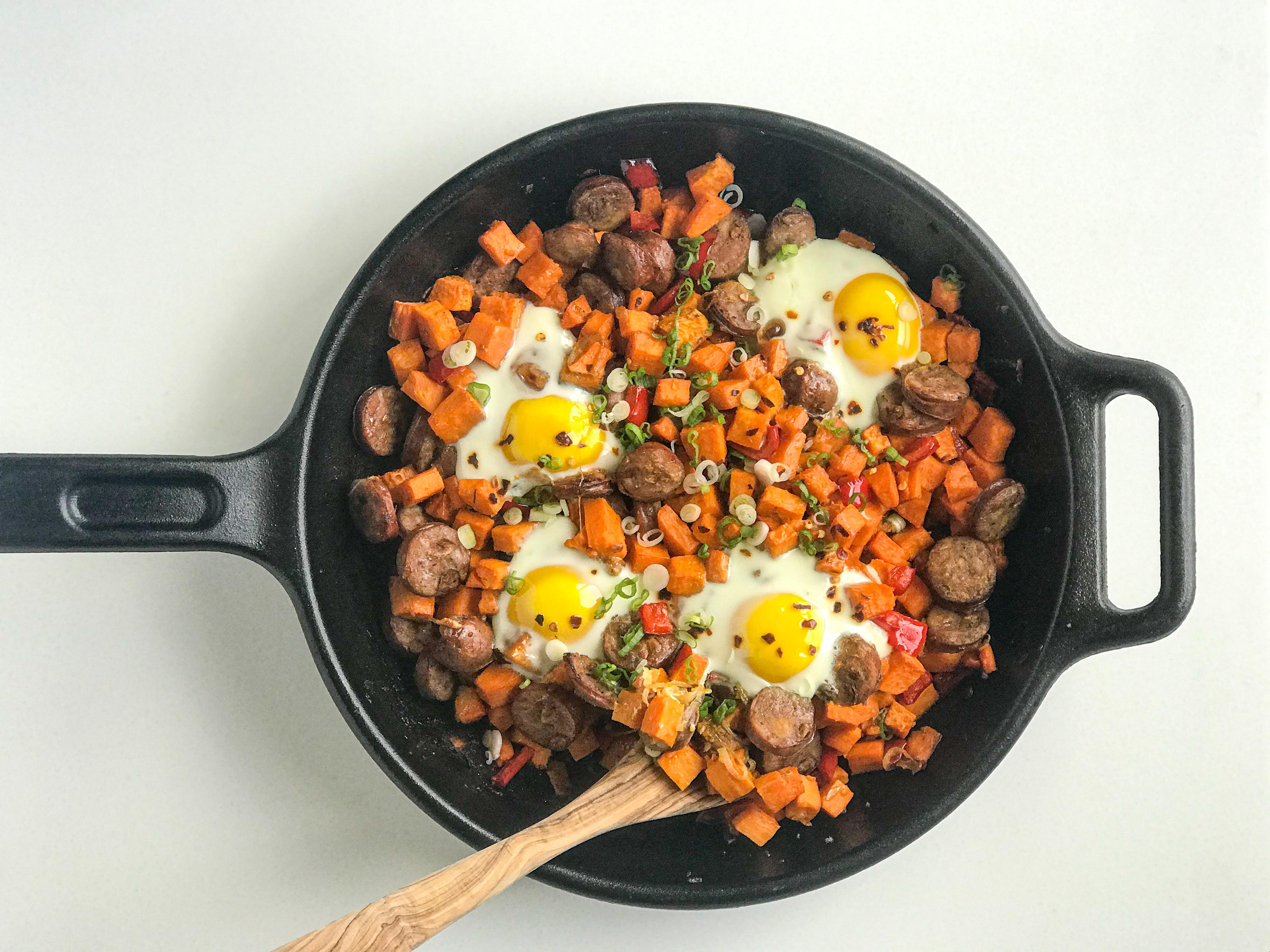 Autumn Sweet Potato Hash & Eggs
