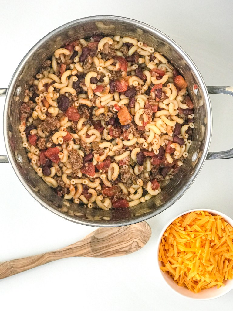 Easy Cheesy Chili Mac Casserole