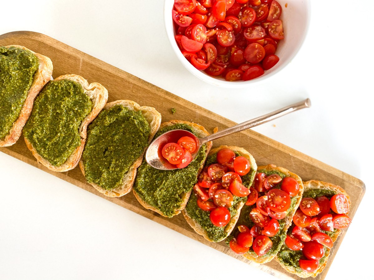 Crusty Pesto Antipasto Bread - Appetizer