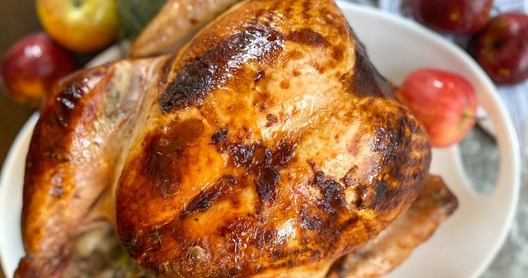 Cozy Apple Cider Turkey (Brine & Roast) with Video