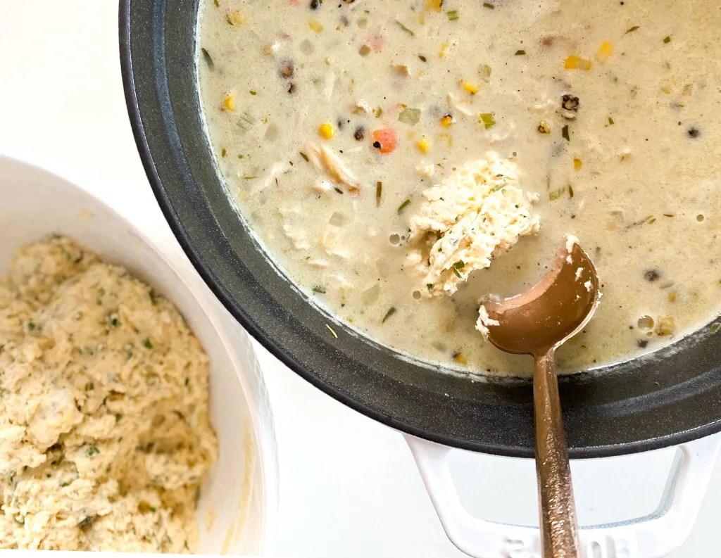 Chicken and Buttermilk-Herb Drop Dumplings