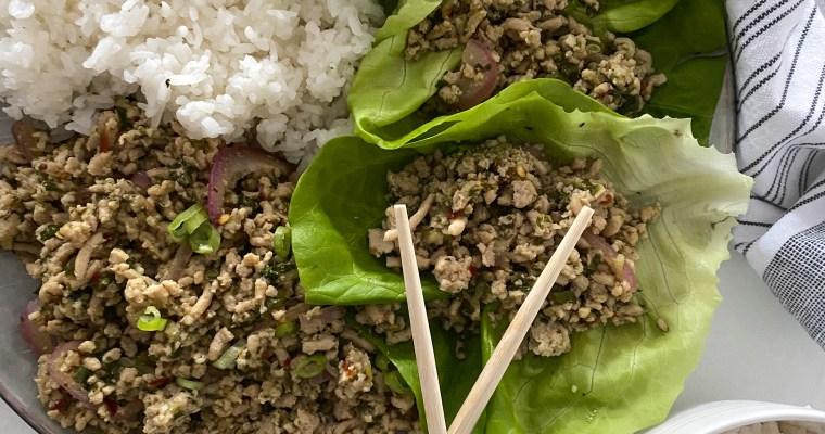 Easy Thai Chicken Larb Gai
