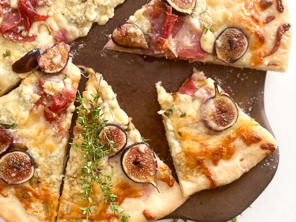 Fig & Gorgonzola Crispy Prosciutto Pizza