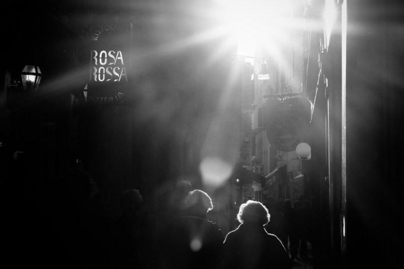 Catching the light in Venice. Fuji X-T1, Fuji 56mm f/1.2R lens, 1/640 sec at ƒ/10, ISO 200