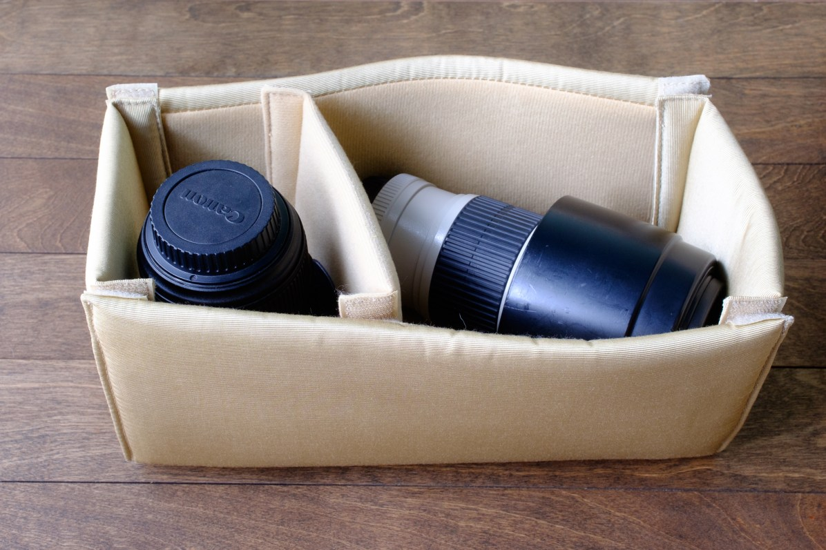 This shows both lenses (24-70mm and 70-200mm f/4L IS), without the camera.