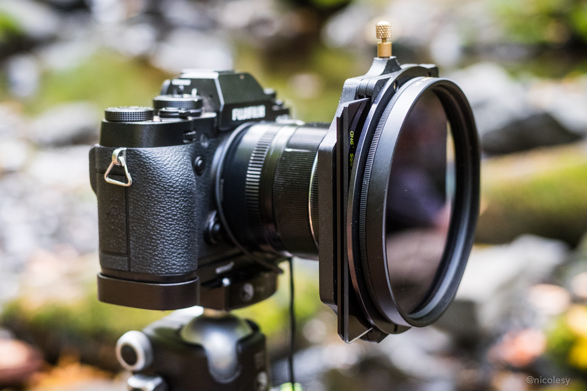 Fujifilm X-T1 with Lee Filter holder and filters