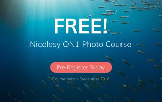 Pre-register today for the Nicolesy FREE ON1 Photo Course.