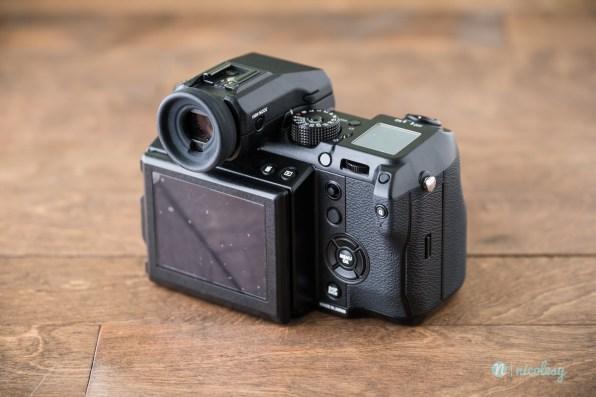 The Fujifilm GFX 50S (back side)