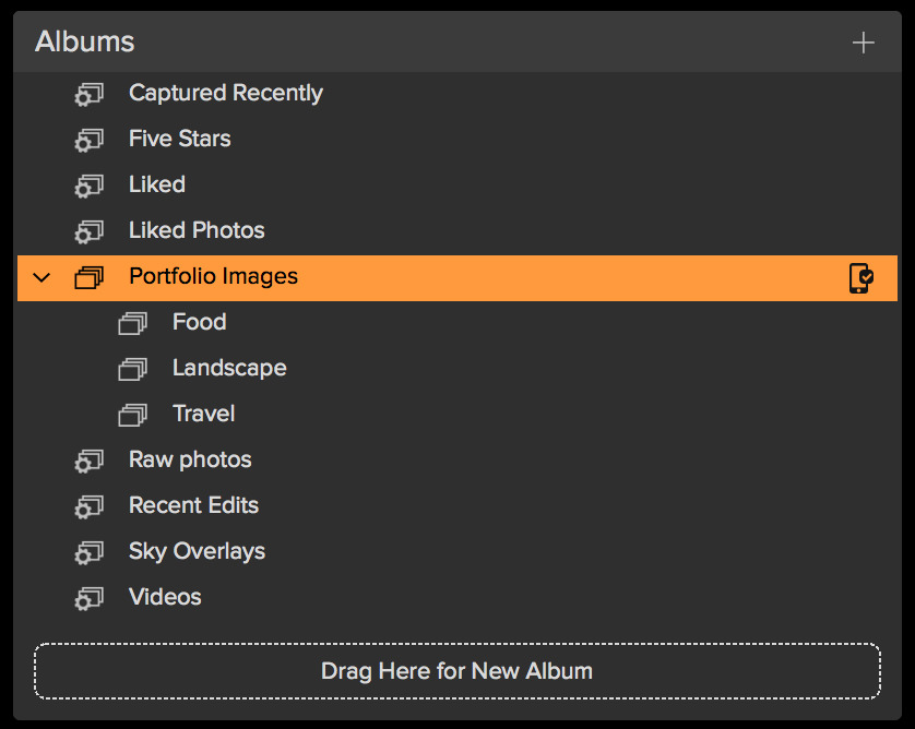 Nested Albums in the Browse module.