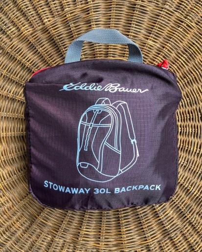 The Eddie Bauer 30L Stowaway bag