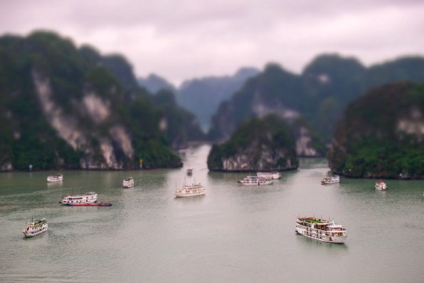 """In used the in-camera """"Miniature"""" setting on my FUJIFILM camera to create this effect."""