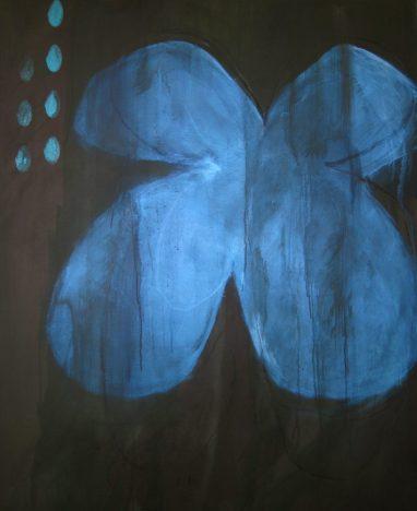 Blue Butterfly ( acrylics on canvas, 120 x 90 cm, 2012)