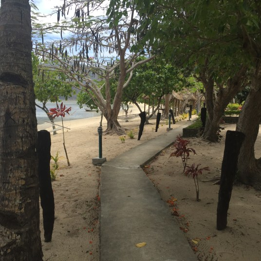 Walking down the resort!