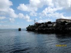 L'isola di Santa Anastasia vista dal traghetto