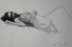 Mark Demsteader drawings -study for waterfalling, pastel & collage øTheP 04