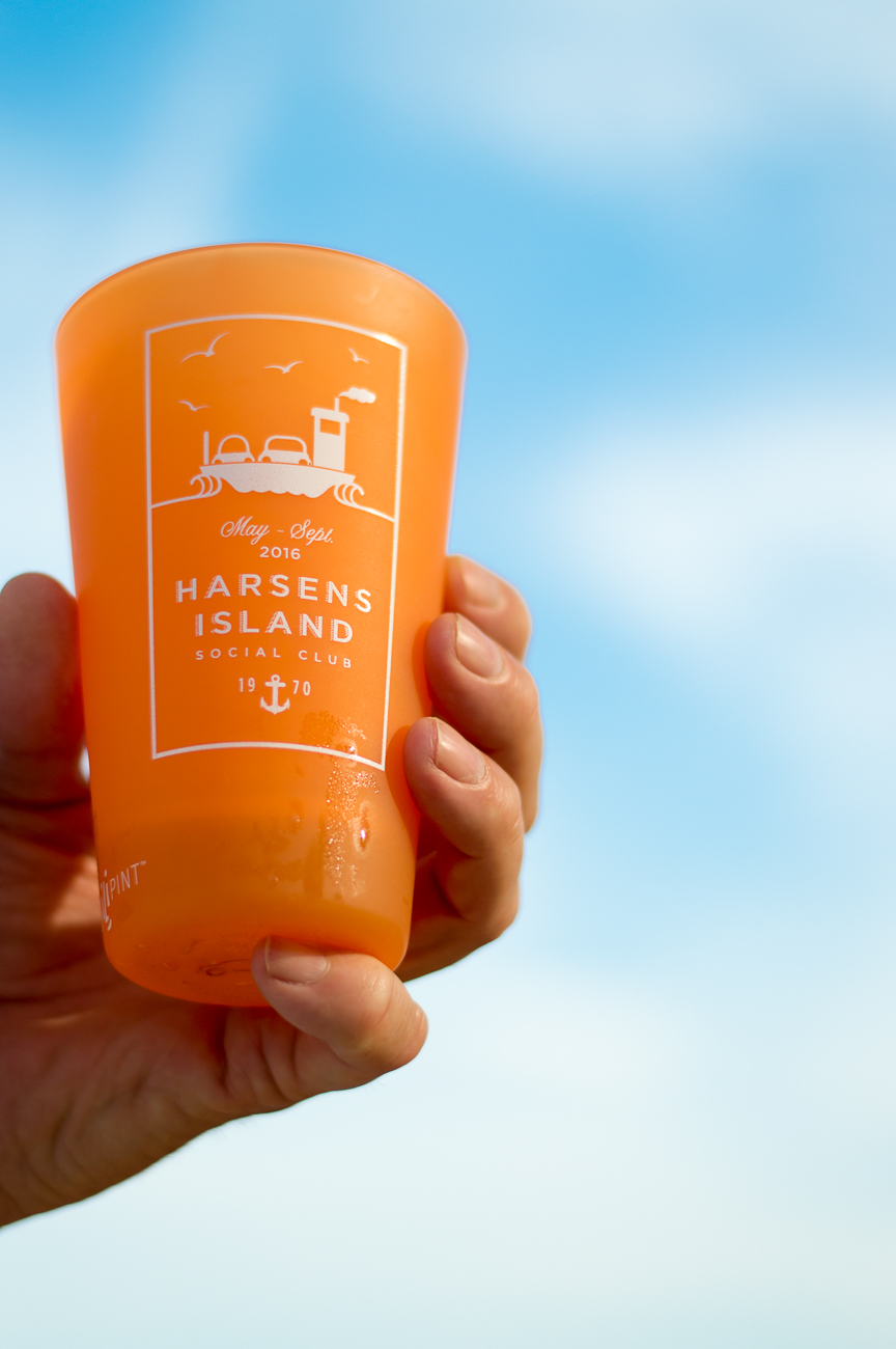 Nautical Themed Silipint Glass Featuring the Harsens Island Ferry   Nicole Victory Design