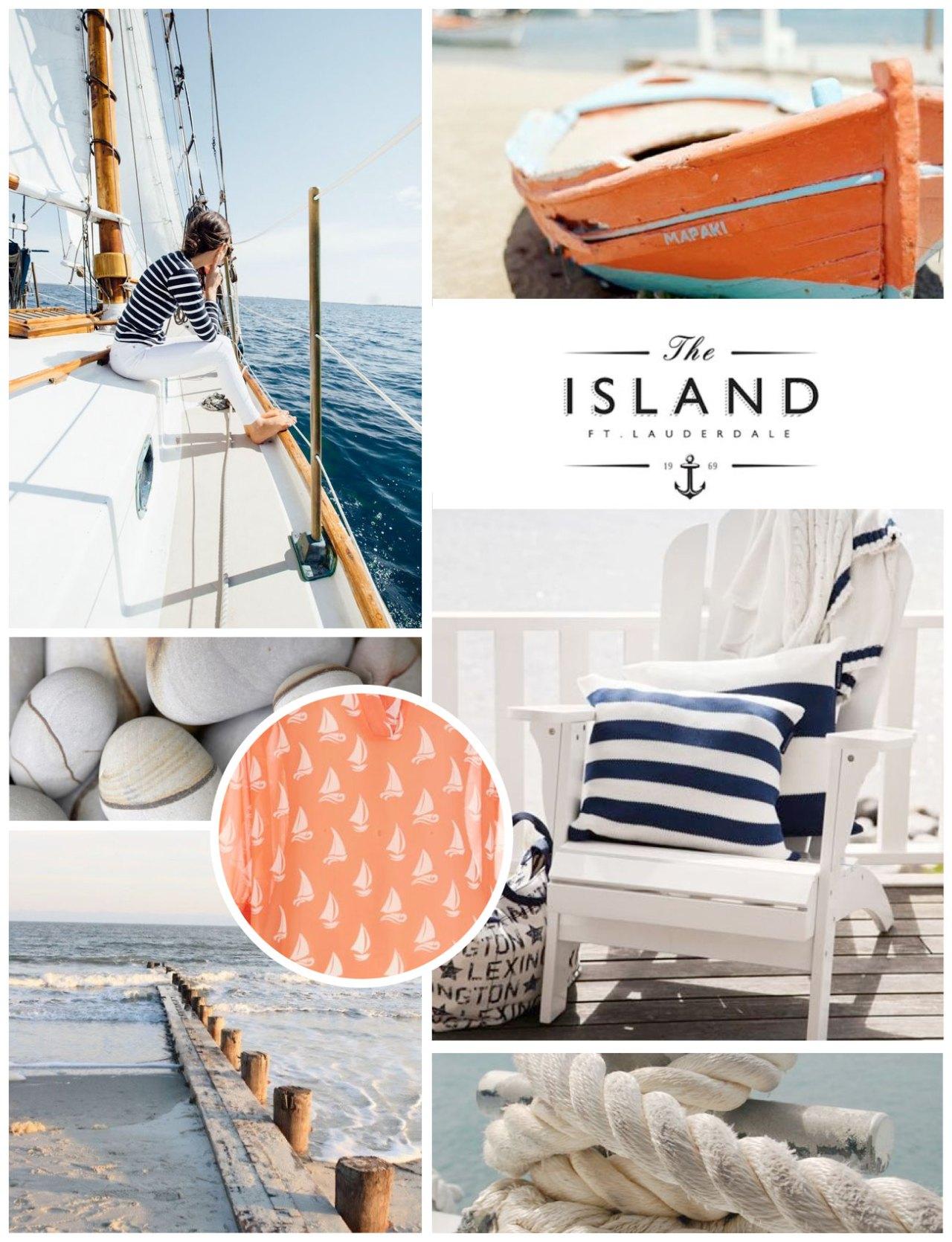 Harsens Island Social Club Custom Silipint Design Nautical Themed Inspiration Board   Nicole Victory Design