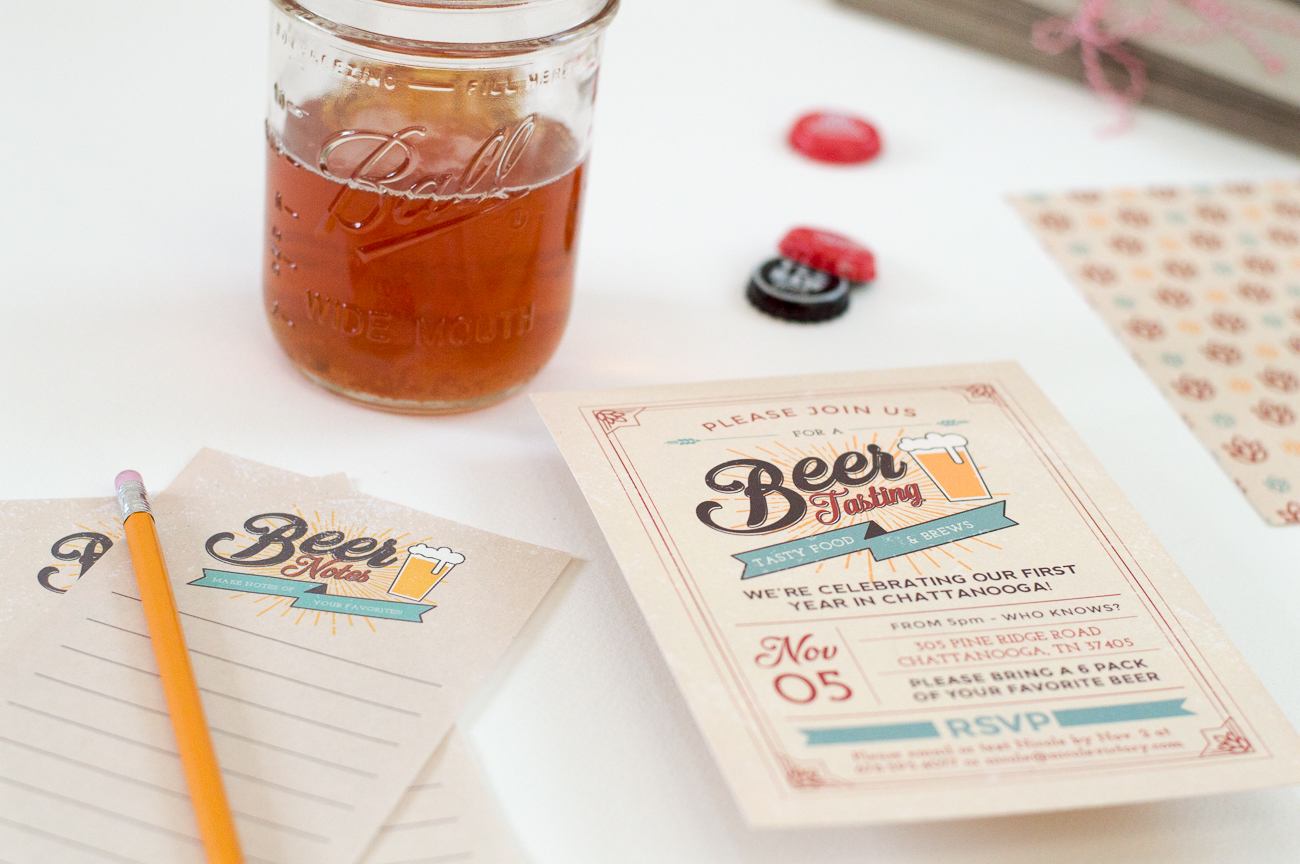how to start my own invitation printing business%0A Beer Tasting Invitations   Nicole Victory Design