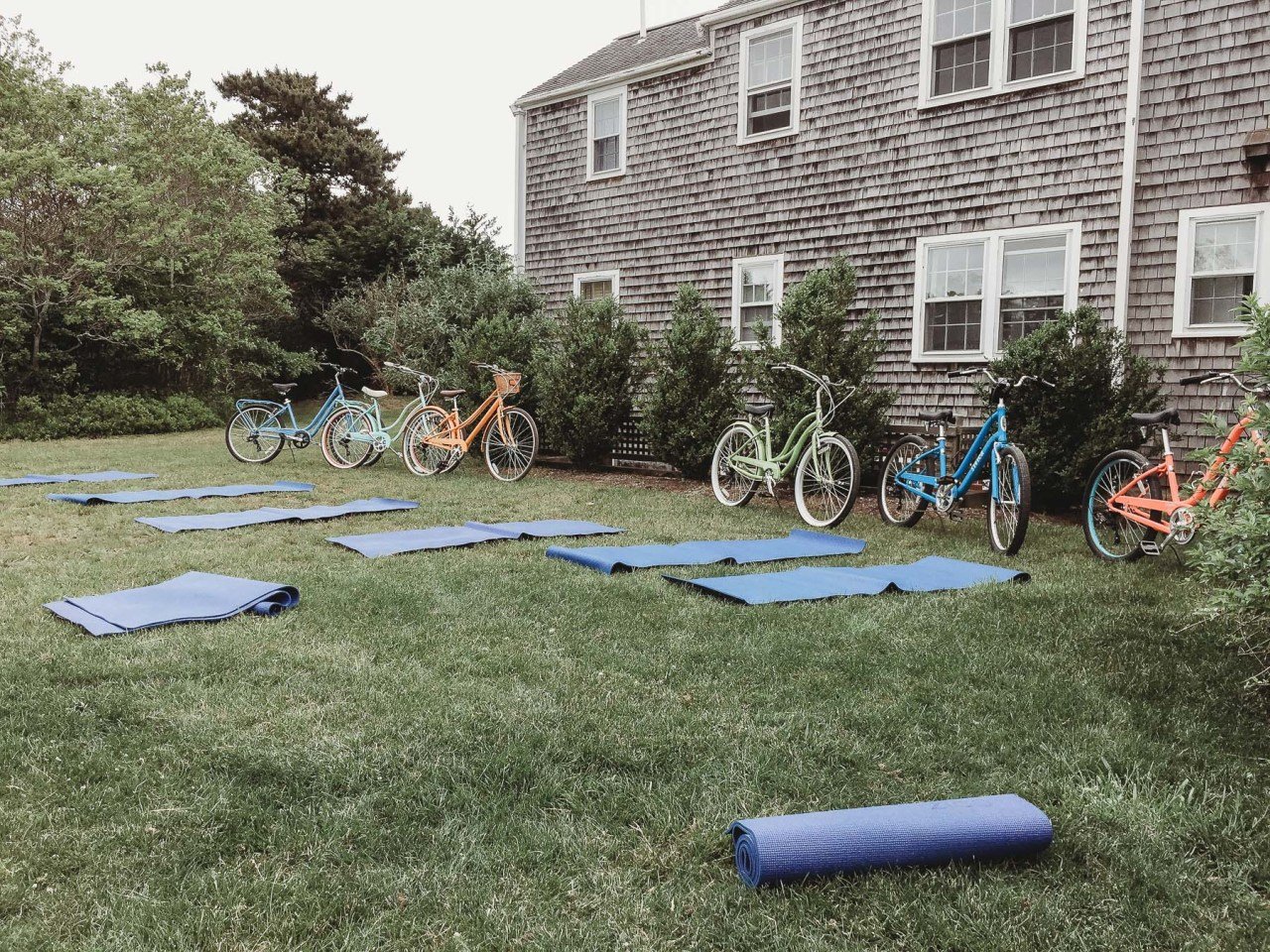 How to Stay Fit, In Balance, and Prevent Injury When You Work From Home | Yoga at the Schwinn Summer House | Nicole Victory Design