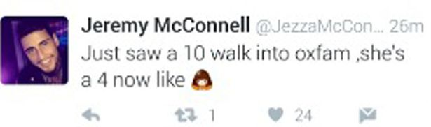 Jeremy McConnell Forced To Delete Tweet After He Slams Woman Buying Clothes From Charity Shop