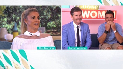Pete Andre Blows A Kiss To Ex Wife Katie Price As They Both Appear On TV At The Same Time!